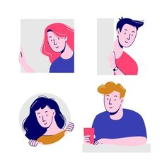 Illustration concept with people peeping. Illustration Design Plat, Illustration Plate, Illustration Vector, Simple Illustration, Character Illustration, Website Illustration, Character Design Sketches, Character Design Animation, Character Design References