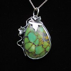 Sterling Silver and Chinese Spiderweb Turquoise by CreativeEddy, $235.00