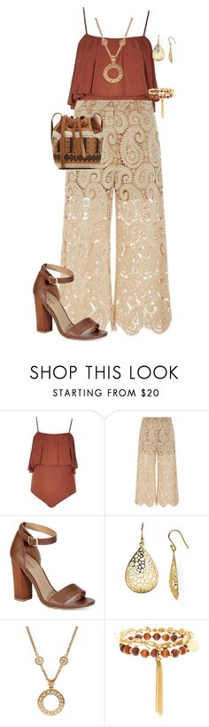 """""""feeling boho/plus"""" by kristie-payne ❤ liked on Polyvore featuring River Island, Rochas, Bamboo, Argento Vivo, Chanel and Vanessa Bruno"""