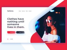 Hi guys, Check out this beautiful landing page for fashion company. ------------------------------------------ Press ''L'' if you like it!