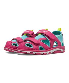 Look what I found on #zulily! Pink Zing & Blue Atoll Expedition Sandal & Little Kid #zulilyfinds
