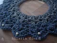 hf Crochet Bicolor Necklace 100% Cotton ❥ 4U // hf