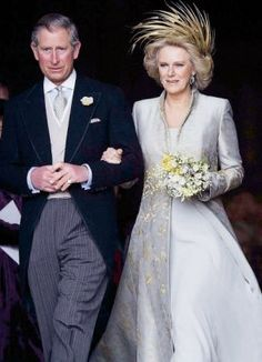 Prince Charles and Camilla, Duchess of Cornwall on their wedding day.  Oh Dear!!