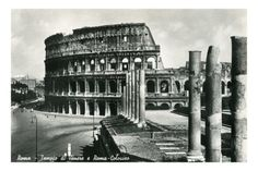 Rome - The Colosseum, as seen through the Temple of Venus and Rome.