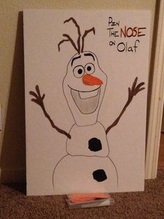 Disney frozen party... Pin the nose on olaf