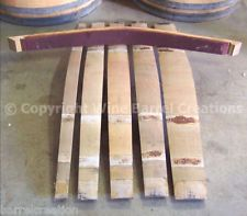 5 OAK WINE BARREL STAVES FOR ART & CRAFT, HOME DECOR