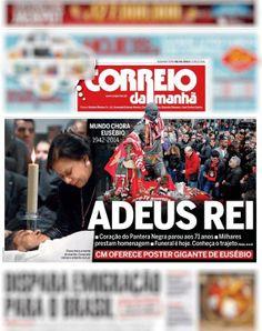 CORREIO DA MANHÃ: «ADEUS REI»