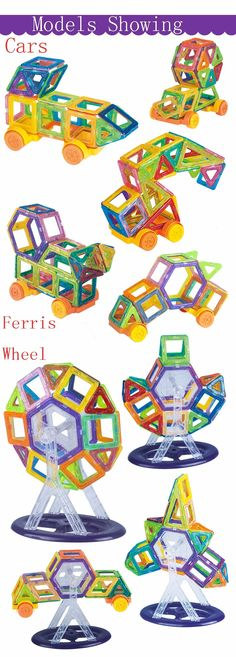 $66.96 - Awesome 164pcs-64pcs Mini Magnetic Designer Construction Set Model & Building Toy Plastic Magnetic Blocks Educational Toys For Kids Gift - Buy it Now!