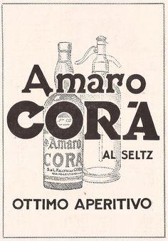 Pubblicità originale anni 20 AMARO CORA advertising werbung reklame publicitè | eBay
