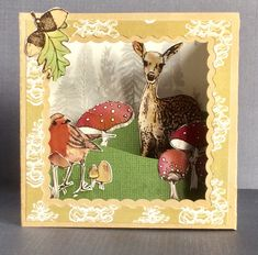 Hello and a very Happy New Year! My name is Katrina and I am the Fruit Pixies design elf. For my first project of the year I chose to . Co Design, Decoupage Paper, Pixies, Shadow Box, Woodland, Paper Crafts, Stamp, Fruit, Winter