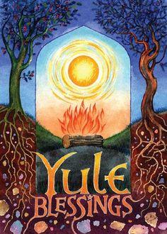 Winter Solstice:  #Yule Blessings.
