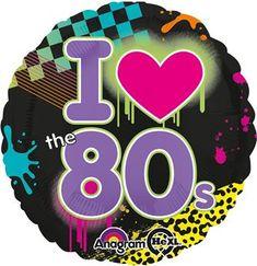GBP - Party Decorations Disco Music Party Balloons I Heart Love The Balloon & Garden 80s Birthday Parties, Disco Birthday Party, Birthday Party Themes, Birthday Bash, Round Balloons, Helium Balloons, Foil Balloons, 1980s Party Decorations, Eighties Party