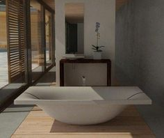 cncrete bathroom | Concrete Bathroom Fixtures by DadeDesign