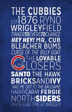 Hey, I found this really awesome Etsy listing at https://www.etsy.com/listing/169038324/chicago-cubs-print