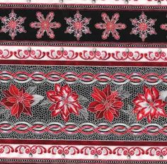Silver+Poinsettia+Stripe,+Holiday+Flourish+7+by+Robert+Kaufman+Fabrics+at+Creative+Quilt+Kits