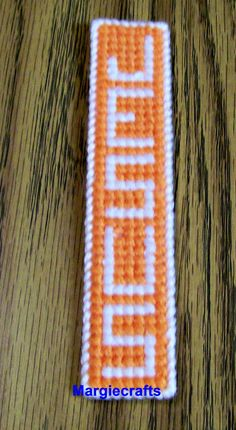 9e3aeba41542 Jesus Bookmark Plastic Canvas Bookmark Yarn by Margiecrafts Plastic Canvas  Books