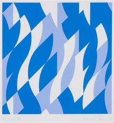Bridget Riley, Two Blues