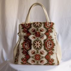 """La Félicie BoHo Beautiful Bag   Direct from our Paris buying trip comes this lovely hand embroidered beauty with faux vegan leather details. 12"""" Length, 16"""" Width, 6"""" Deep. Telle Mere, Telle Fille Vintage Collection Bags"""