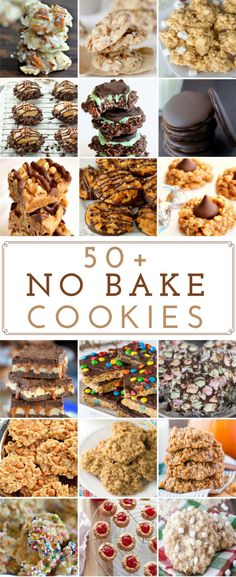 I love no bake cookies because they are cheap, delicious and easy to make. Many of these recipes are under 5 ingredients (most of which you already have in your pantry or fridge like oats, sugar, peanut butter, etc.) Peanut Butter No Bake Cookies Peanut B Mini Desserts, Easy No Bake Desserts, Cookie Desserts, Cookie Recipes, Delicious Desserts, Yummy Food, Dessert Healthy, Cheesecake Desserts, Plated Desserts
