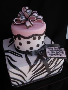 Tiered polka dot and zebra print birthday cake Zebra Birthday Cakes, Zebra Print Birthday, Cookie Cake Birthday, Adult Birthday Cakes, 1st Birthday Parties, Girl Birthday, Birthday Cake Pictures, 70s Party, Tiered Cakes