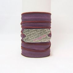 SILK WRAP Bracelet ~ Live Laugh Love Antiqued Silver Metal Word Band ~ Cranberry, Purple ~ Inspirational Quote ~ Hand Dyed 100% Silk Ribbon www.sgtpepperscreations.etsy.com #sgtpepperscreations #silkwrapbracelet #live #laugh #love #livelaughlove