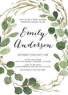 Baby Shower Invitation Gender Neutral by KirraReynaDesigns on Etsy