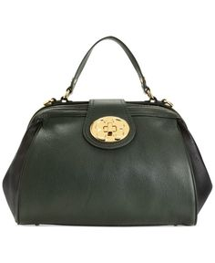 Emma Fox Handbag Classic Top Handle Leather Frame Satchel. Not as small as it looks in the picture. On sale at Macy*s $185.00 off the original price
