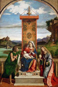 563. Cima da Conegliano - Madonna col Bambino in trono tra i santi Giovan Battista e Maria Maddalena - 1513 circa - Parigi, Louvre