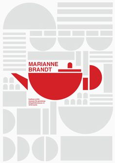 Graphic to depict a Marianne Brandt teapot - Bauhaus