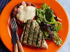 Tuscan-Style Grilled Tuna Steaks: I make ahi this way whenever I have it. And sometimes I swap oregano for the rosemary. Easy, tasty, healthy.