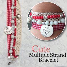 Cute multiple strand bracelet by Angélica