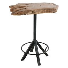 Awesome Reclaimed Wood Slab Bar Table Top with Metal Legs.  V-174 Item # 36396