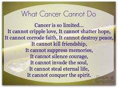 What cancer cannot do comforting poems for cancer patients from