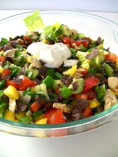 "#Vegan Chopped ""Chicken"" Salad With Creamy Vegan Ranch Dressing by Nana Kate"