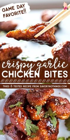 recipes low sodium recipes for 9 year old recipes no chicken recipes under 600 calories isagenix recipes pork recipes during lent recipes ground pork recipes kids can make Soy Chicken, Garlic Chicken Recipes, Chicken Bites, Yum Yum Chicken, Baked Chicken, Chicken Appetizers, Easy Appetizer Recipes, Appetizer Ideas, Appetizers For Party