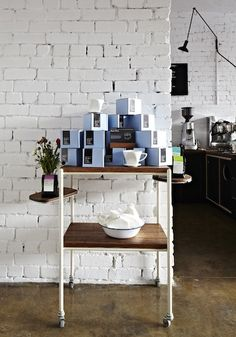 Inspiration if I ever redo my little rusty cart + A Coffee shop in Melbourne, Australia called Market Lane Coffee
