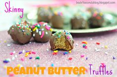 Skinny Peanut Butter Truffles « Back for Seconds Uses Fiber One cereal ground up with mashed bananas...