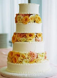pink rose garden wedding cake 1000 images about yellow pink wedding on 18583