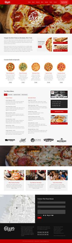 Pizza House is a responsive one-page Joomla 3 template built for pizza shops or Italian restaurants. Pizza House, Site Design, Design Ideas, Simple Website, Pizza Restaurant, Responsive Layout, Main Menu, Morrisons, Week Diet