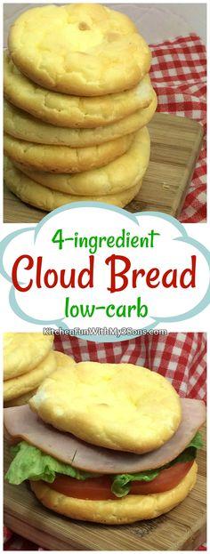 4-ingredient Low-Carb Cloud Bread recipe