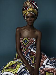 Black Women In African Head Wraps Israela Avtau Brown Skin Beauty in African…