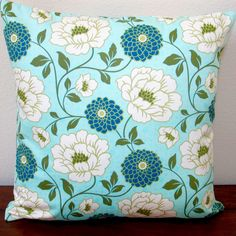 Artisan Pillows Indoor Bungalow Dahlia in Forest Blue Modern Floral Accent Throw Pillow Cover (Artisan Pillows Indoor 20 Throw Pillow Cover), Size 20 x 20 Carol Woods, Throw Pillow Covers, Throw Pillows, Popular Flowers, Wood Elf, Cotton Pillow, Discount Furniture, Color Inspiration, Bungalow