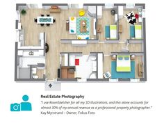Property Photographers: Want to earn more revenue? Learn why more and more photographers are adding 3D Floor Plans to their services. https://www.roomsketcher.com/earn-more-with-floor-plans/  #realestatephotography #propertyphotography #floorplans #3Dfloorplans #realestatefloorplans #realestate #propertymarketing #realestatemarketing #realestatetrends