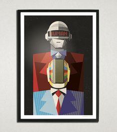 Daft Punk by Ricardo Polo, via Behance