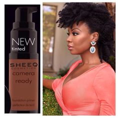Our Camera Ready - Tinted Foundation Primer is a must for all medium to deep skintones. It's fabulous and exactly what you need to keep your makeup in place ALL day!  www.sheeqcosmetics.com