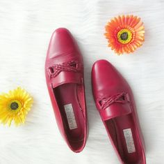 Vintage Red Leather Flats Excellent condition! Lovely red in color. Would look great with summer sundresses. Leather Upper. Partners brand from Mervyns. (RIP Mervyns.)  Bundle for best deals! Hundreds of items available for discounted bundles! You can get lots of items for a low price and one shipping fee!  Follow on IG: @the.junk.drawer Vintage Shoes Flats & Loafers