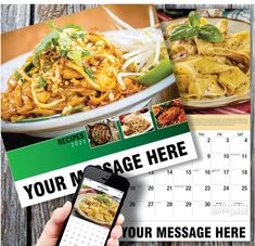 2021 Recipe Wall Calendars for Business Advertising - low as Your Name, Logo & Ad Message in the homes and offices of people in your area every day! Calendar App, Print Calendar, Promotional Calendars, Date Squares, Wall Calendars, Advertise Your Business, Recipe Instructions, App Store, Google Play