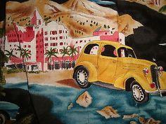 Mens RJC Hawaiian Shirt Large L Woody Pineapple Hana Haleiwa Surf Boards Aloha