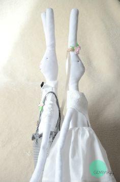 Retro wedding króliki, tilda bunny, maileg, wedding tilda
