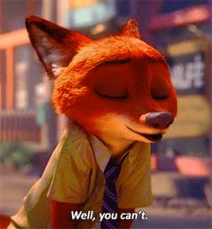 """You can only be what you are..."" zootopia, nickwilde, judyhopps, disney GIF"